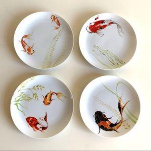 Rare design - Koi fish plates - Anthropologie